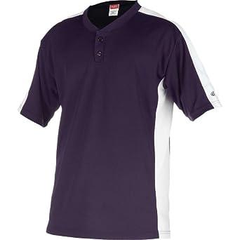 Rawlings Youth Two Button YJSB Jersey, Purple, Youth Medium
