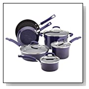 Rachael Ray Porcelain Enamel II Nonstick Cookware Set, 10-Piece