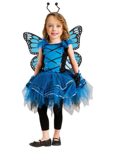 Ballerina Butterfly Blue Toddler Costume - Toddler Halloween Costume