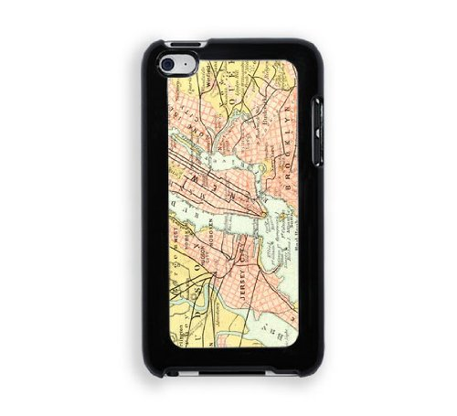 Ny Brooklyn Vintage Map Ipod Touch 4 Case - Fits Ipod 4/4G