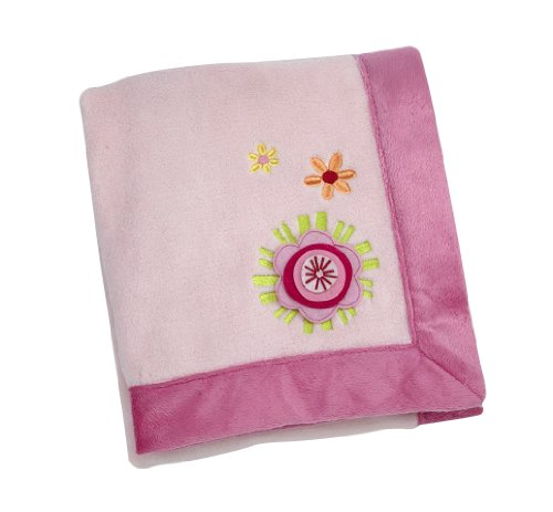 NoJo Jumbo Joy Appliqued Coral Fleece Blanket