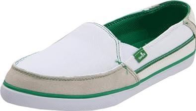 Sanuk Women's Standard Streaker Slip-On,White/Green,11 M US