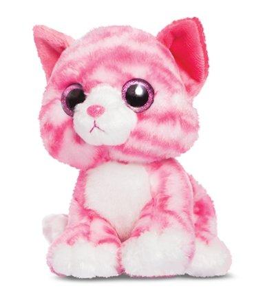 Candies Plüschtier rosa - weiß getigert Katze
