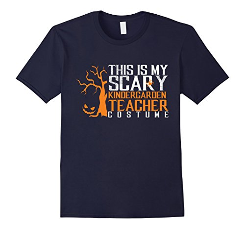 [Men's Scary Kindergarten Teacher Halloween Costume Funny T-shirt 3XL Navy] (Easy Male Halloween Costumes Homemade)