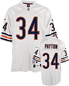 Reebok Chicago Bears Walter Payton Premier Throwback White Jersey Extra Large