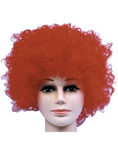 Costume-Wig Curly Clown Red Budget Halloween Costume - 1 size