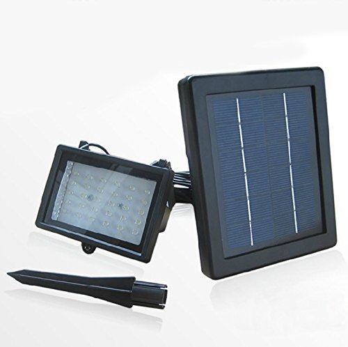 Siga® Warm White Outdoor Solar Powered 60Led 200 Lumen Spotlight/ Floodlight For Home Lighting, Security Lighting, Pool Use - With 16 Feet Wire --- Automatically Working From Dusk To Dawn At Good Sunshine