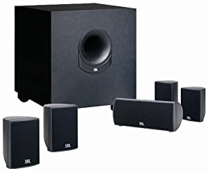 JBL SCS145.5 Home Cinema Speaker Package with Powered Subwoofer (Set of 6) from JBL