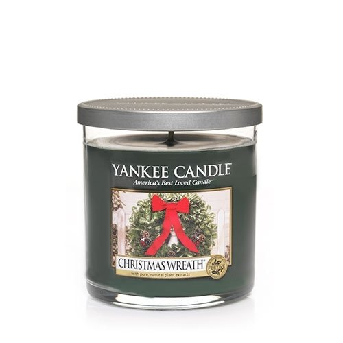 Christmas Wreath Small Single Wick Tumbler Candle - Yankee Candle