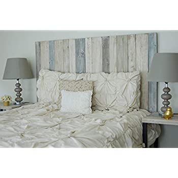 Farmhouse Mix Design - Queen Size Hanger Handcrafted Headboard. Mounts on Wall. Easy to Install. …