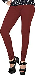 Red Chilli Women's Cotton Slim Fit Leggings (alg_014_rc, Free Size, Maroon)
