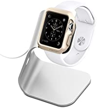 Apple Watch Stand, Spigen® [Charging Dock] Apple Watch Cargador **NEW** [Apple Watch Stand] [S330] Aluminum build cradle holds Apple Watch - Comfortable viewing angle easy use quick connection for Apple Watch (2015) - S330 (SGP11555)