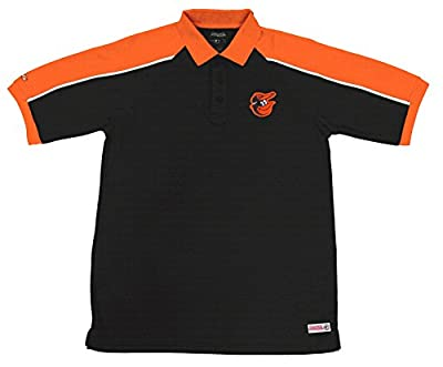 MLB Baltimore Orioles Color Blocked Polo with Lined Mini Mesh Panels