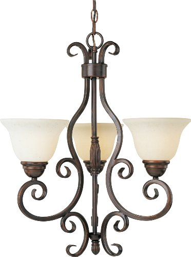 Elegant Maxim MX Light Mini Chandelier from the Manor Collection Oil Rubbed Bronze