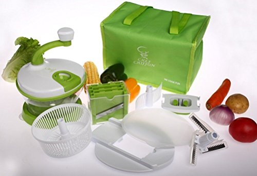 15 Piece Chef Chiffon Manual Kitchen Chopper Food Processor Beater & Slicer