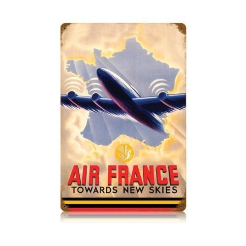 air-france-towards-new-skies-vintage-metal-sign-aviation-12-x-18-steel-not-tin-by-the-vintage-sign-s