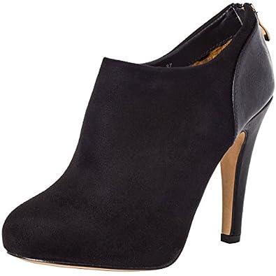 caspar bottines basses talon pour femme low boots en. Black Bedroom Furniture Sets. Home Design Ideas