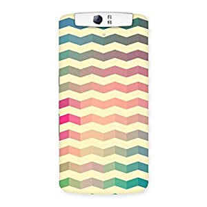 Ajay Enterprise Elite Seamless ZigZag Multicolor Back Case Cover for Oppo N1