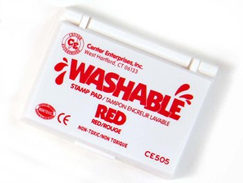 Stamp Pad Washable Red -- Case of 7