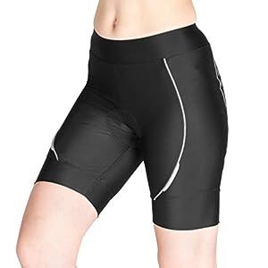 Lameda Pantalones Cortos de Ciclismo Respirable 3D Gel Silicona con Acolchado de Bicicleta para Mujeres(XL)