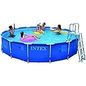 Intex Metal Frame Pool Set, Multi Color (15 Feet X 36 Inch)