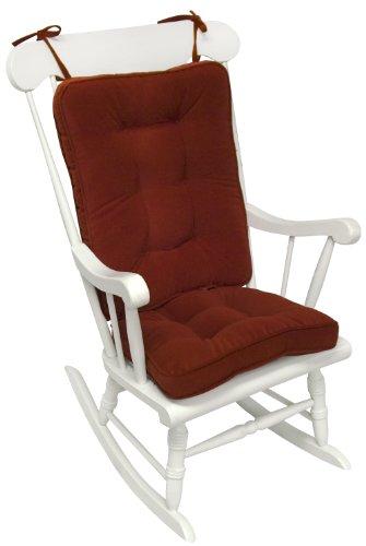 Greendale Home Fashions Standard Rocking Chair Cushion Hyatt Fabric, Scarlet