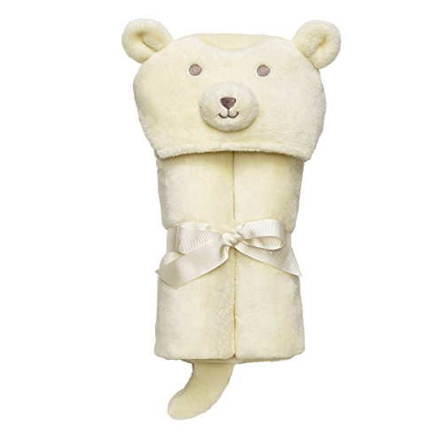 Elegant Baby Microfiber, Machine Washable, Ultra Plush, Soft Baby Gift, Baby Blanket Wrap Cream Bear