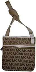 Women's Michael Kors Items Crossbody Beige/Ebony/Vanilla
