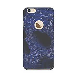 Motivatebox-Apple Iphone 6/6s with hole cover-Arithmetic Skull Polycarbonate 3D Hard case protective back cover. Premium Quality designer Printed 3D Matte finish hard case back cover.