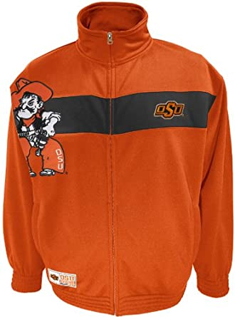 NCAA Mens Oklahoma State Cowboys Victory March Full Zip Jacket by SECTION 101 Majestic