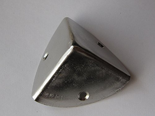 Hettich Kistenecken Eckenschützer, 28 x 28 x 28 mm, Stahl vernickelt, ohne Schrauben, 1 Stück, 9130630