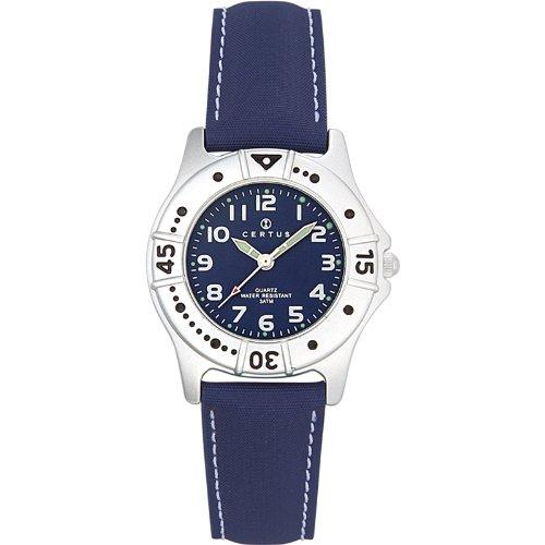 Certus 647400 - Reloj analógico de cuarzo unisex, correa de plástico color azul