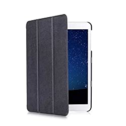 SPL Premium PU Leather Book Stand Cover for Samsung Galaxy Tab S2 Tablet 9.7inch -Black