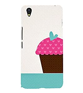 animated pink ice cream cone print 3D Hard Polycarbonate Designer Back Case Cover for One Plus X :: One+X :: OnePlus X