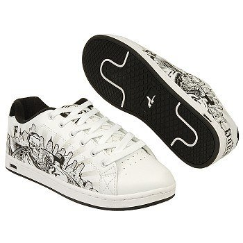 SNEAUX Men's Undead (White/Black/Grey 7.0 D)