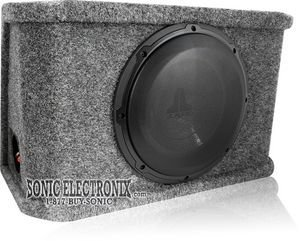 "Jl Audio Cs110Rg-W3V3 Sealed Powerwedge™ Enclosure With One 10"" W3V3 Subwoofer"