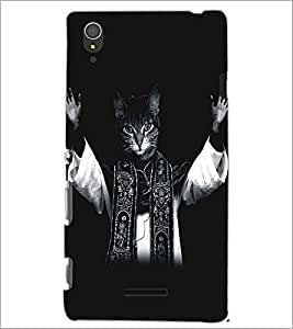 PRINTSWAG CAT Designer Back Cover Case for SONY XPERIA T3