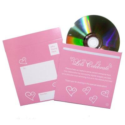 Foto CD con rosa & bianco del cuore (singolo) (PCDS_PINK)