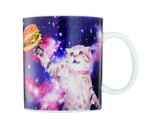 Gift Republic Cat in Space Mug, Multicolor