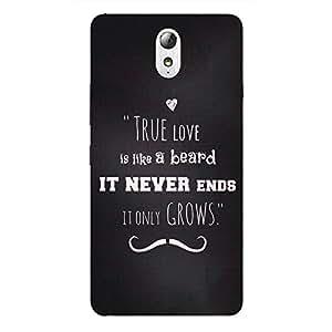 Back cover for Lenovo Vibe P1 True Love is like Beard