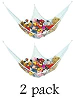  2 JUMBO TOY HAMMOCK Nets Organize Stuffed Animals from Prince Lionheart