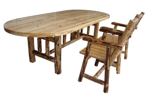 Rush Creek Log Cabin Style Dining Table