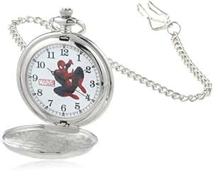 Marvel Comics Men's W000461 Spider-Man Pocket Watch ...