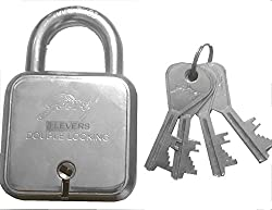 Godrej Square Padlock 8 Levers with 4 (Four) Keys By Mansha Hardware