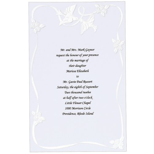Wilton 50-Pack Doves Invitation
