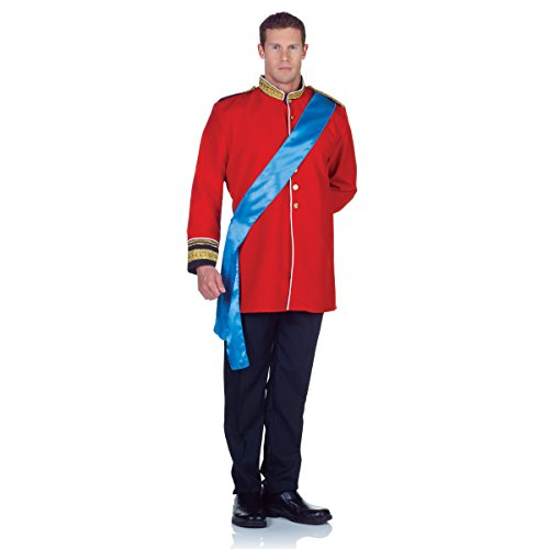 Prince Charming Costume William Royal Storybook Fairytale Cinderella Adult Red
