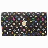 LOUIS VUITTON M93747 ルイヴィトン財布 モノグラム・マルチカラー ポルトフォイユ・サラ 二折長財布 ブラックxフィグ(並行輸入)