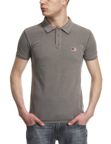 Wrangler Flag Polo Men's T-Shirt Frost Gray Small