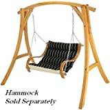 Roman Arch Wooden Hammock Chair Stand