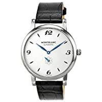 Montblanc White Dial Black Alligator Leather Mens Watch 107073 by Montblanc